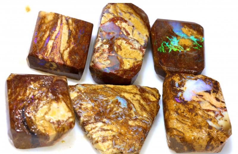111.40 cts Jundah Boulder Opal Opalized Petrified WOOD PARCEL DT-A2580
