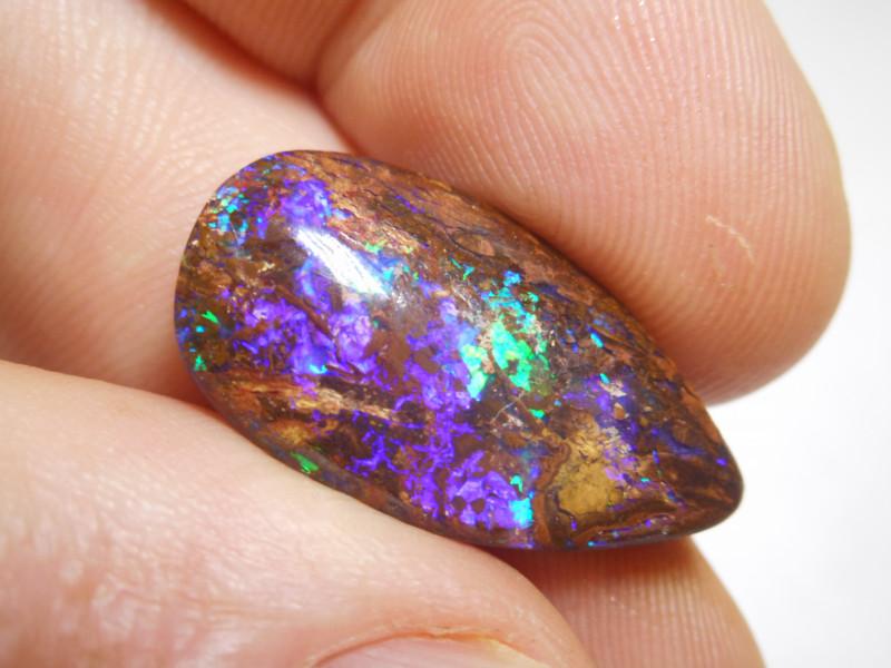 12.25ct Boulder Opal Wood Fossil Polished Stone