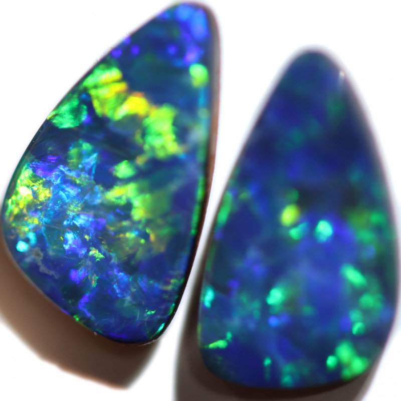 2.56 CTS DOUBLET OPAL PAIRS [SEDA7346]