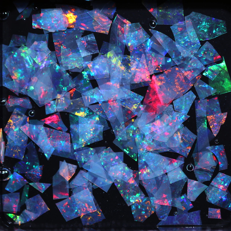 2.04 CTS THIN CRYSTAL SLICES PARCEL .IDEAL MOSAIC -[MS8021]