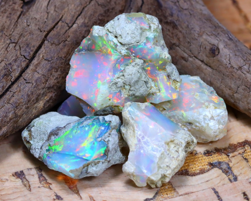 Welo Rough 30.25Ct Natural Ethiopian Play Of Color Rough Opal F1501