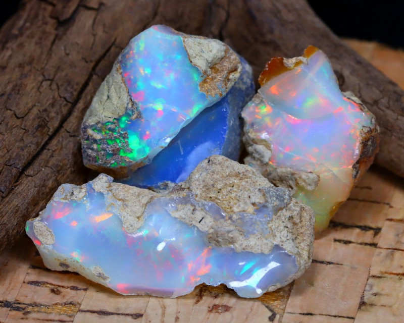 Welo Rough 39.21Ct Natural Ethiopian Play Of Color Rough Opal F1503