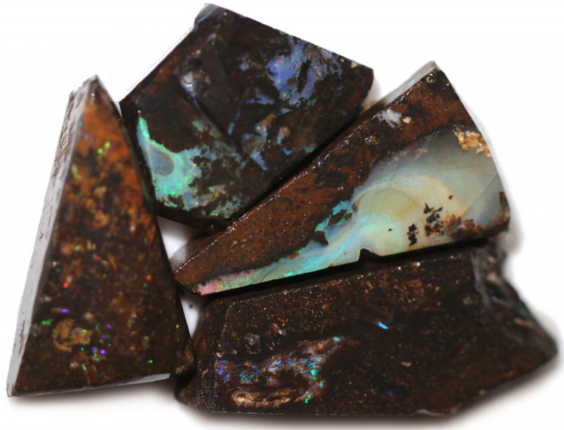 $24 EACH 230 CTS WOOD FOSSIL ROUGH OPAL PARCEL-MINED IN JUNDAH [BY9201]