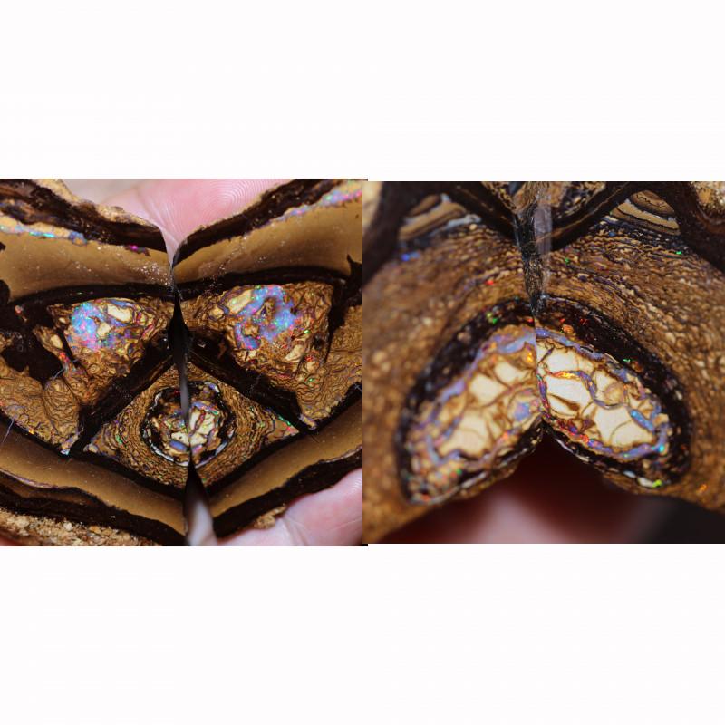 1026.00 Cts Polished Yowah Opal Split CH 450
