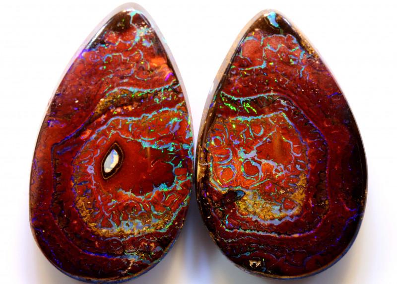 42.85cts Australian Yowah Opal Pair DO-94
