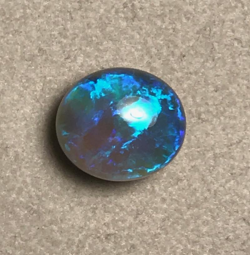 9.06 cts Black Crystal Opal - Lightning Ridge
