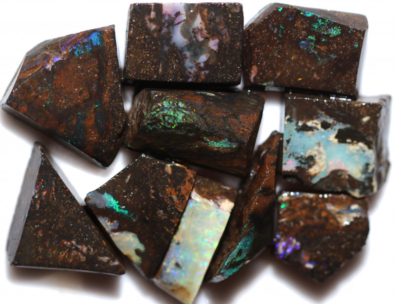 $12 EACH 185 CTS WOOD FOSSIL ROUGH OPAL PARCEL-MINED IN JUNDAH [BY9254]