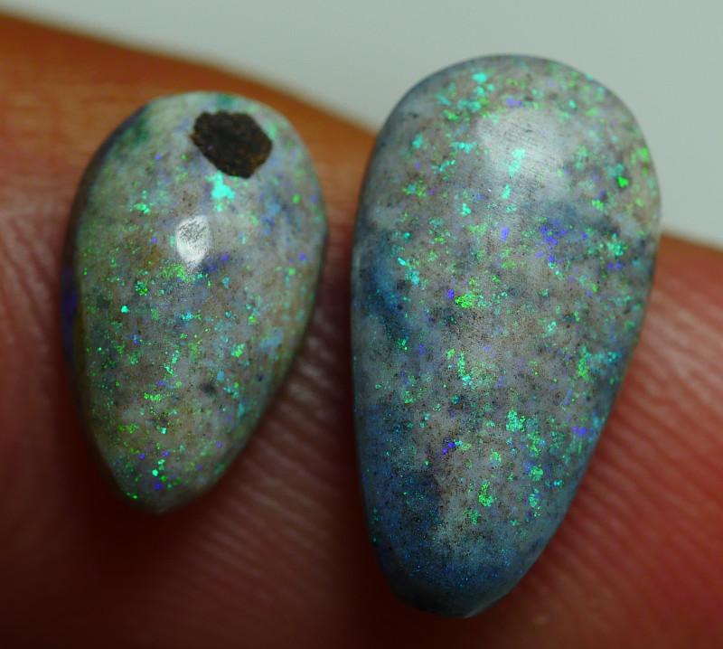 3.045CRT BRILLIANT BRIGHT MATRIX BLUE ANDAMOOKA OPAL-
