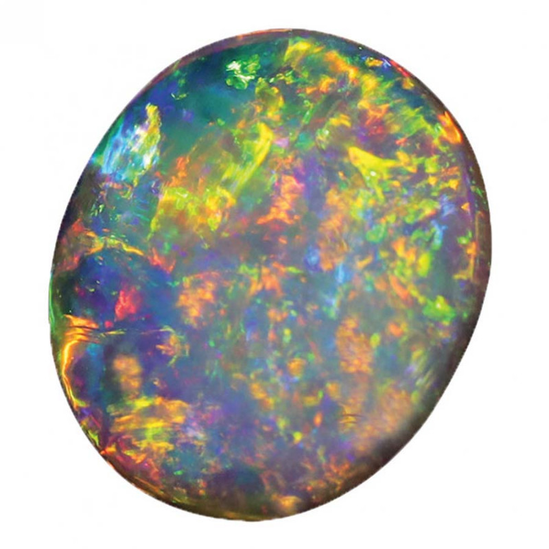 2.55 CT CRYSTAL OPAL DOOBLE FACE LIGHTNING RIDGE [CS264]