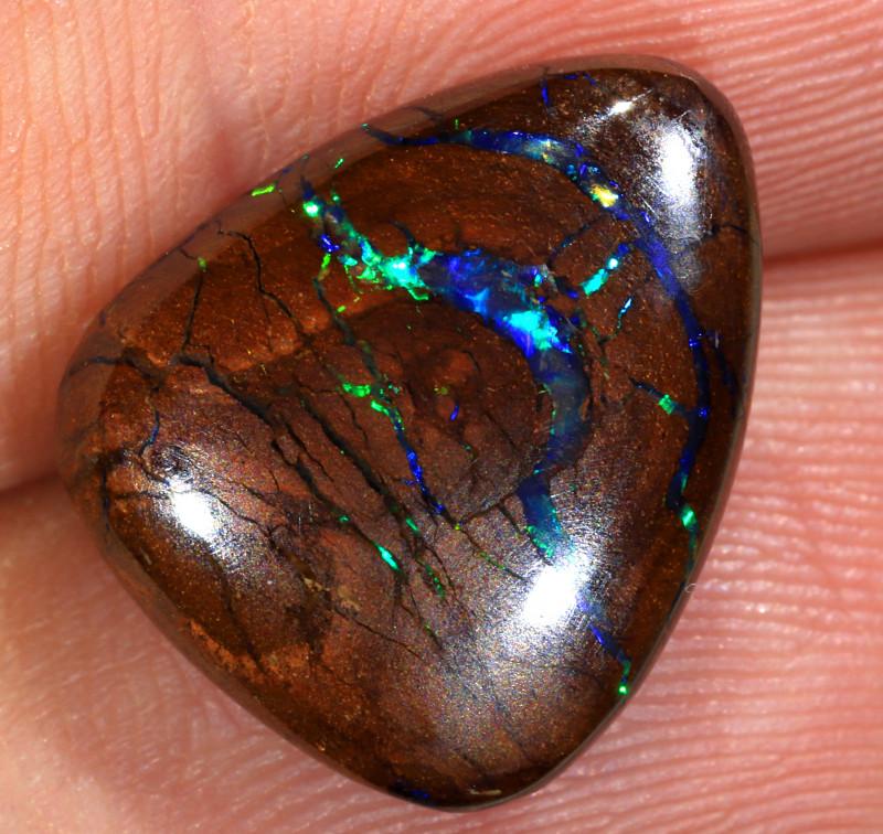 9.6ct 15.5x13mm Queensland Boulder Matrix Opal  [LOB-3417]