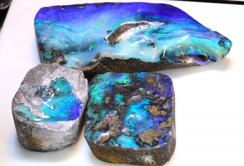 255cts Australian Boulder Opal Solid Stone Lot ML0217
