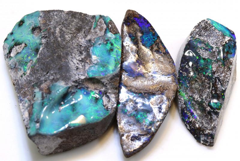 177.50cts Australian Boulder Opal Solid Stone Lot ML0219