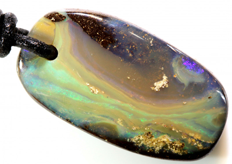36.45 CTS BOULDER OPAL PENDANT DRILLED NC- 7795