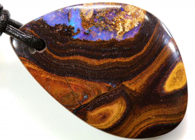 60.55 CTS BOULDER OPAL PENDANT DRILLED NC- 7823