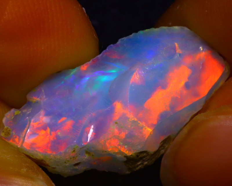 5.89Ct Multi Color Play Ethiopian Welo Opal Rough JF2618/R2