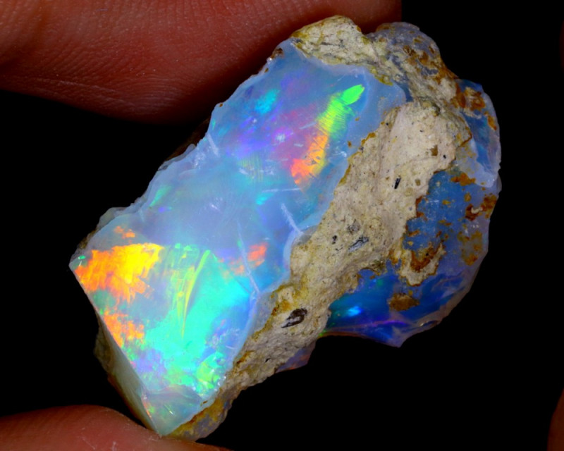 16cts Natural Ethiopian Welo Rough Opal / WR3122