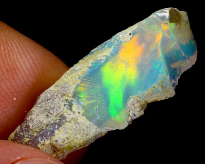 5cts Natural Ethiopian Welo Rough Opal / WR3254