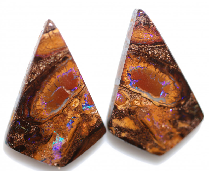 51.71 CTS  YOWAH OPAL PAIR- WELL POLISHED [PS177]