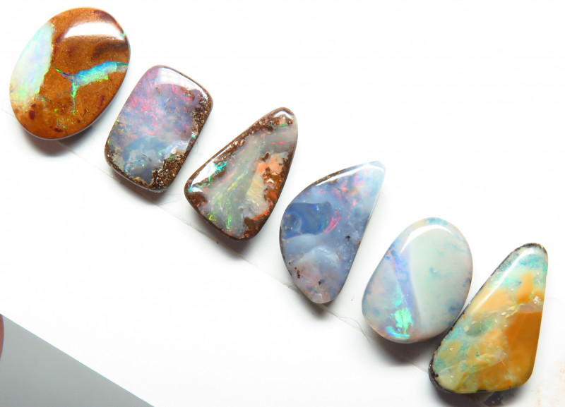 20.44ct Queensland Boulder Opal 6 Stone Parcel