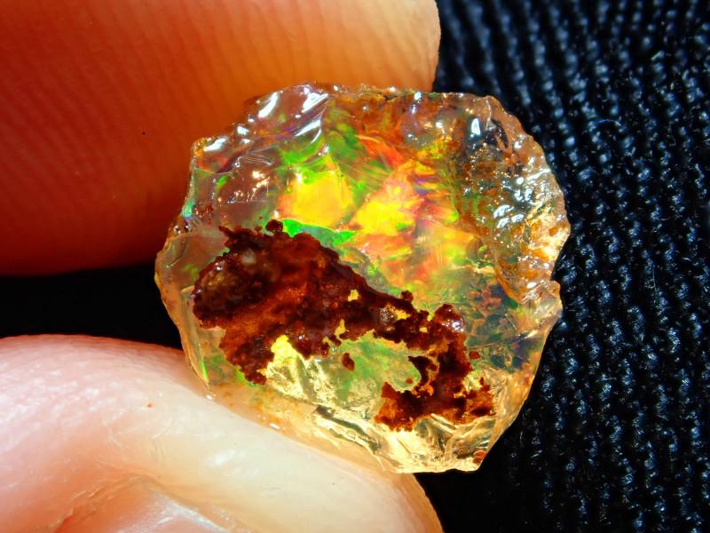 3.16ct -#A7 - Natural Rough Mexican Fire Opal