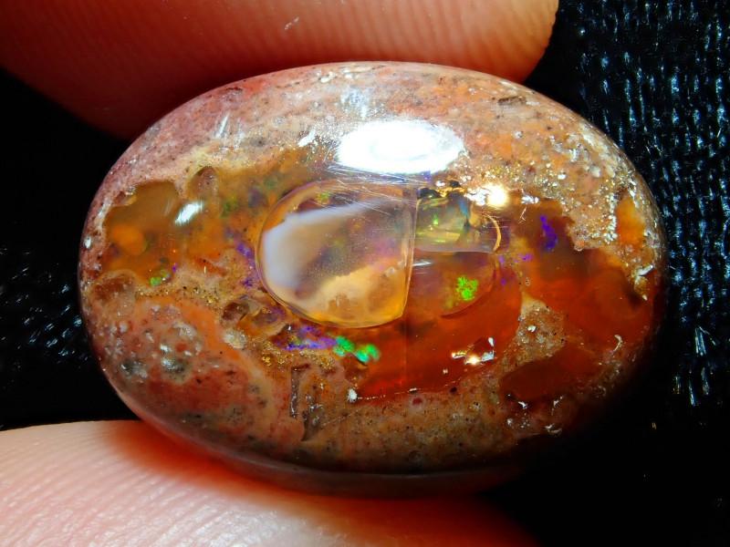 10.38ct Mexican Matrix Cantera Multicoloured Fire Opal