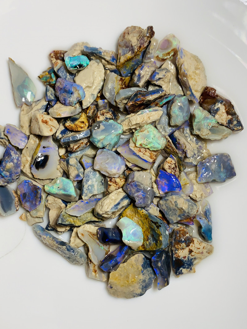 STRAIGHT OFF THE FIELD - 350 CTS BRIGHT SEAM OPAL ROUGH #1022