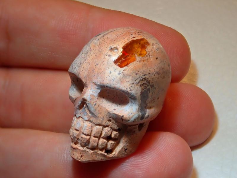 Skull Mexican Cantera Opal