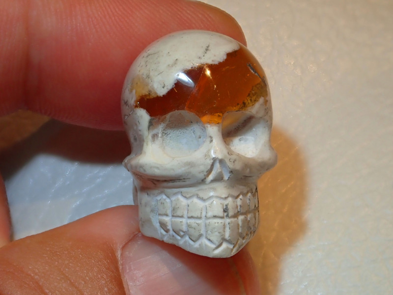 Skull Mexican Cantera Opal