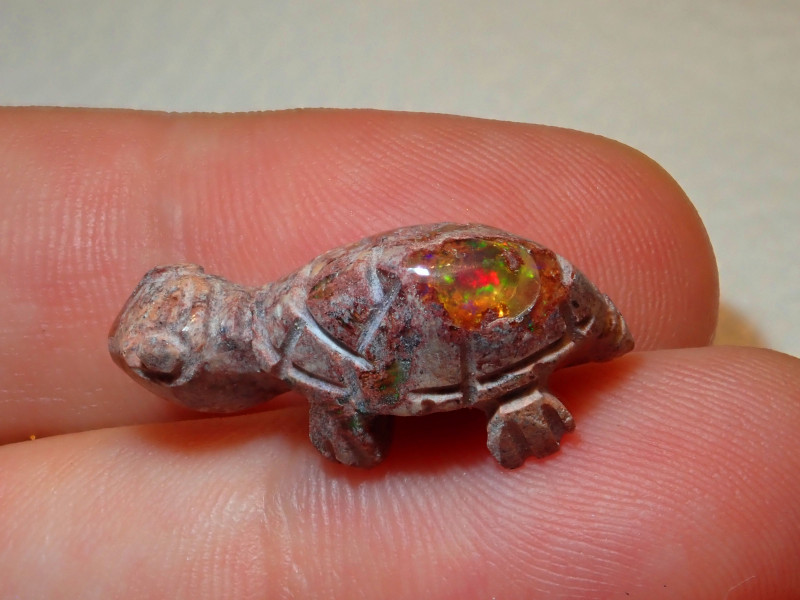 Turtle Mexican Cantera Opal