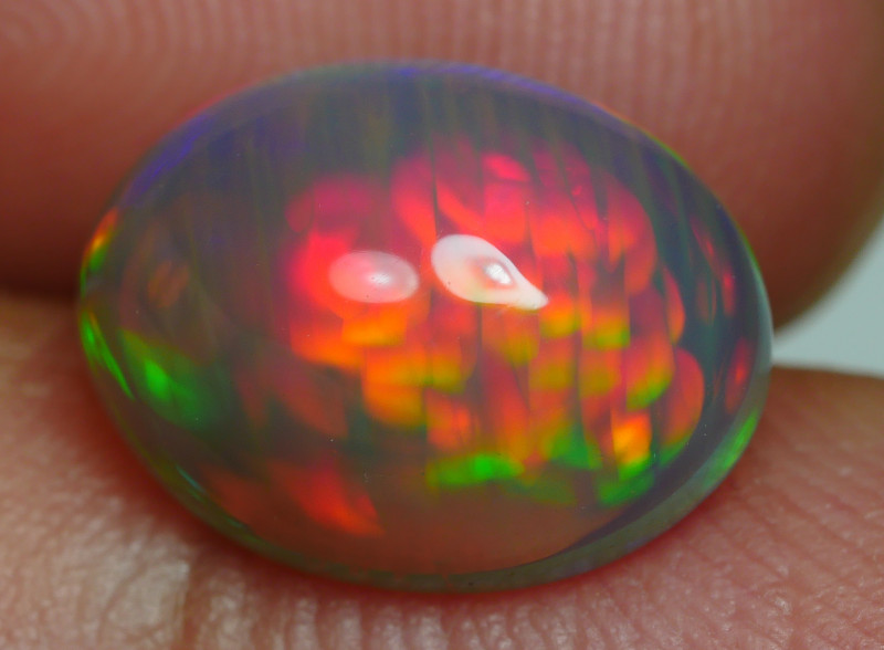 2.460 CRT DARK CRYSTAL GLASS NEON HONEYCOMB BEAUTIFULL MULTICOLOR WELO OPAL