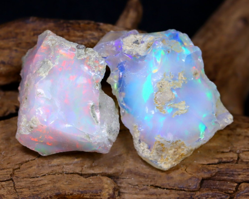 18.31Ct Bright Color Natural Ethiopian Welo Opal Rough DT0179