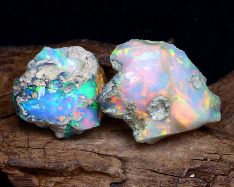 27.33Ct Bright Color Natural Ethiopian Welo Opal Rough DT0204