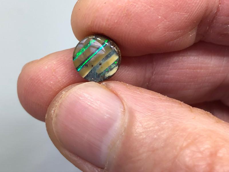 3.75ct Stunning Green Striped Boulder QB1024