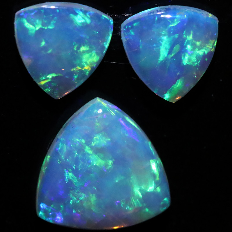 1.21 CTS  CRYSTAL OPAL  SET 3 [CP7150]