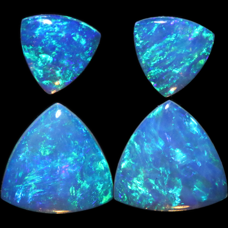 1.41 CTS  CRYSTAL OPAL  SET 4 [CP7151]