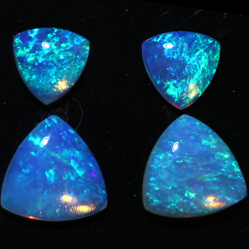 1.56 CTS  CRYSTAL OPAL  SET 4 [CP7157]