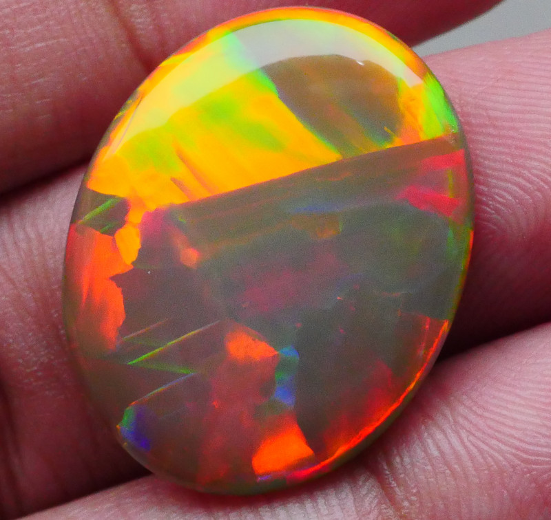 12.790 CRT DARK BASE NEON BLOCK PAINTING FIRE PATTERN DELUXE WELO OPAL-