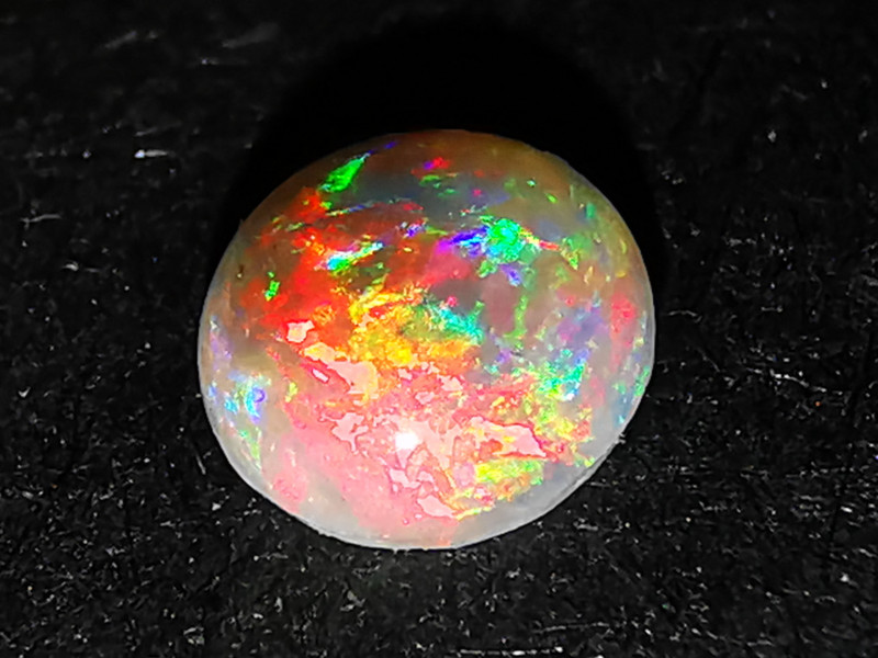 Super Bright Solid Dark Crystal Opal - Lightning Ridge Australia - 0.2 cts