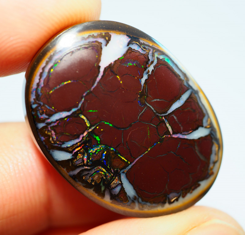44.65CTS  YOWAH OPAL WITH AMAZING PATTERN  BJ304