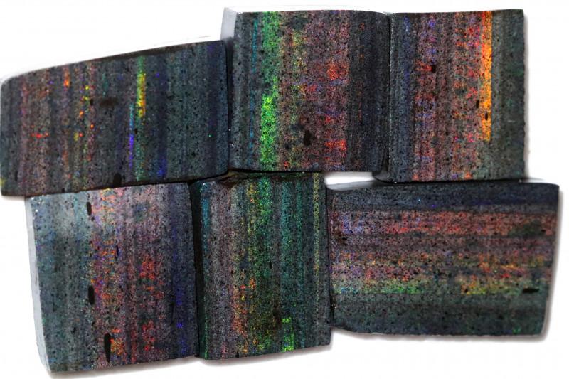 393.96 CTS ANDAMOOKA MATRIX ROUGH SLABS-SIMILAR PATTERN [BY9552]