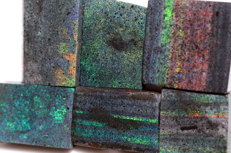 283.25 CTS ANDAMOOKA MATRIX ROUGH SLABS-DIFFERENT PATTERN [BY9559]