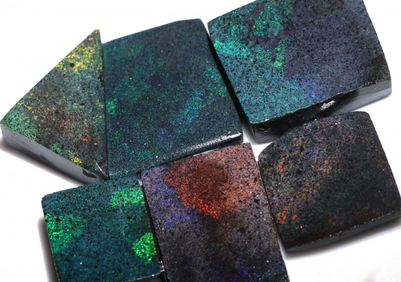 213.70 CTS ANDAMOOKA MATRIX ROUGH SLABS-DIFFERENT PATTERN [BY9562]
