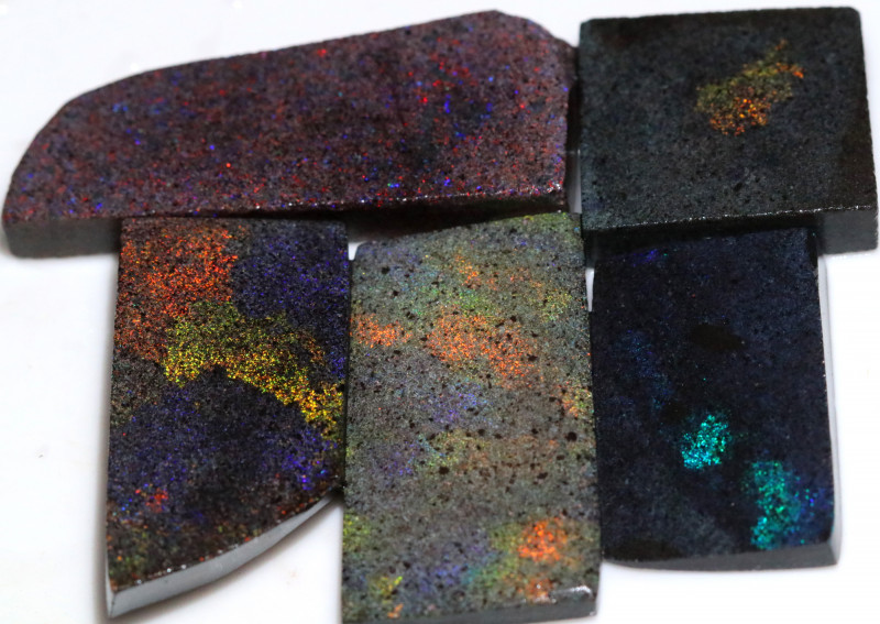 191.80 CTS ANDAMOOKA MATRIX ROUGH SLABS-DIFFERENT PATTERN [BY9575]8