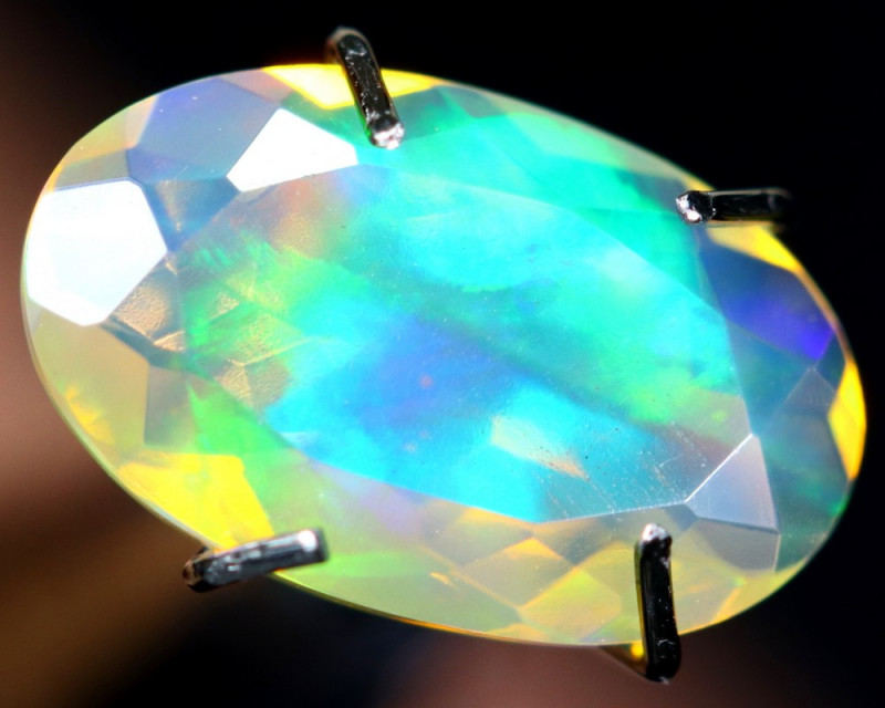 1.10cts TOP GRADE Natural Faceted Ethiopian Welo Opal / BF2983