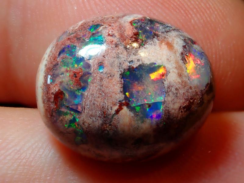 9.82ct Mexican Matrix Cantera Multicoloured Fire Opal