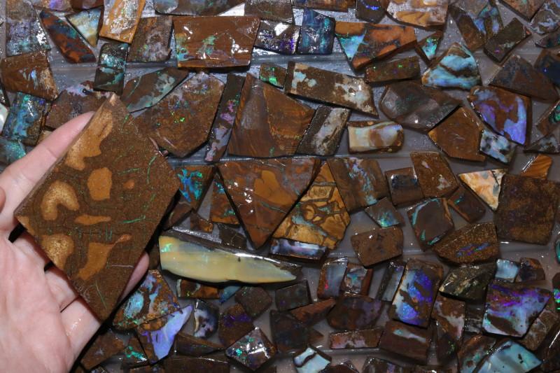 190 pcs Boulder Rough Sliced @$3.50 piece CH 621