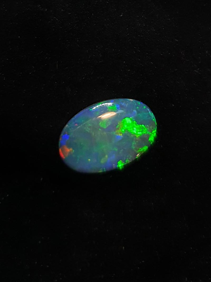 Australian Solid Black Opal. Polished Gemstone