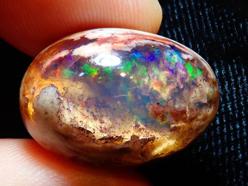 21.43ct Mexican Matrix Cantera Multicoloured Fire Opal