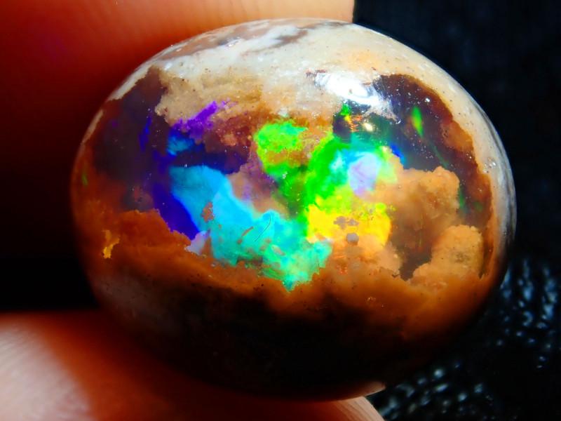 12.64ct Mexican Matrix Cantera Multicoloured Fire Opal