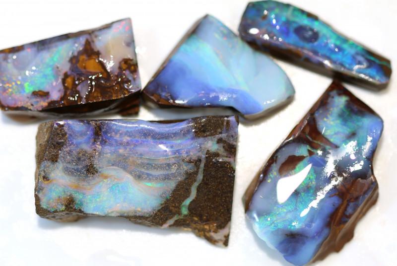 5 = 345cts Australian Boulder Opal Parcel ML02137